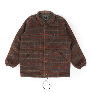 Coach Jacket - Brown/Orange Double Cloth Plaid