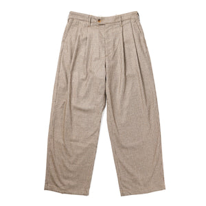 Emerson Pant - Brown Wool Poly Gunclub Check