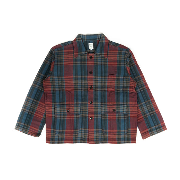 Hunting Shirt - Navy/Red Plaid Twill