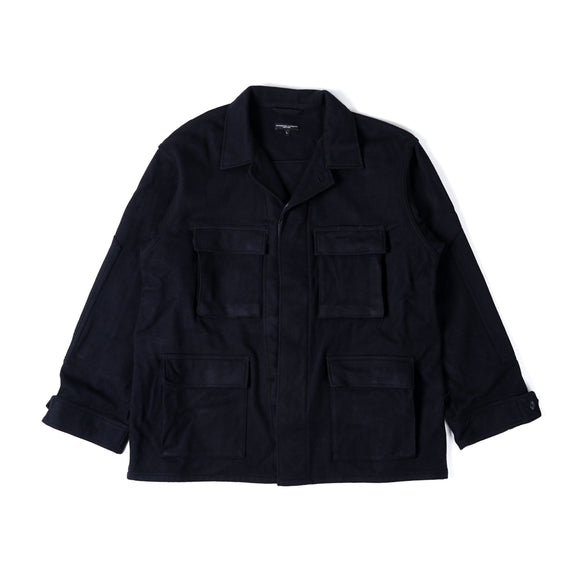 BDU Jacket - Dark Navy Wool Cashmere Melton