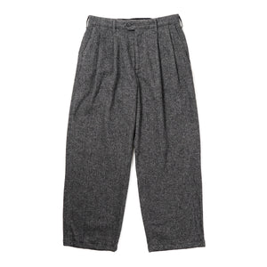 Emerson Pant - Grey Poly Wool Herringbone