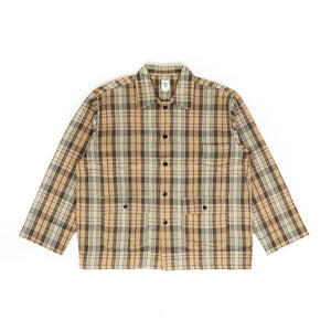 Hunting Shirt - Khaki/Black Plaid Twill