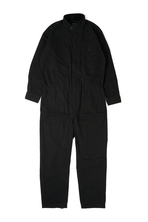 Boiler Suit - Black Cotton Ripstop