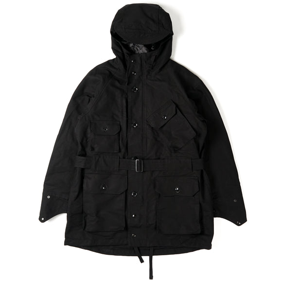 Field Parka - Black Cotton Double Cloth