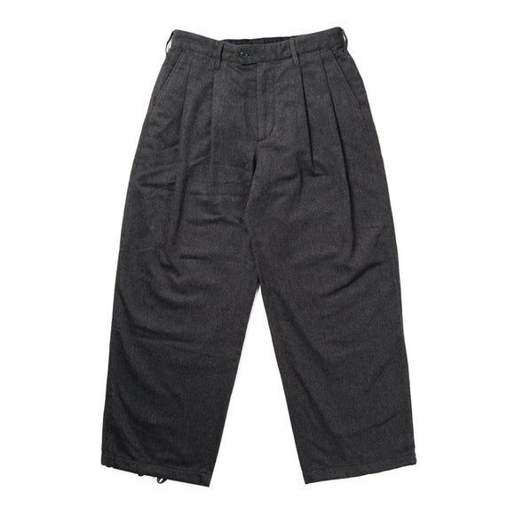Emerson Pant - Grey Wool Cotton Flannel