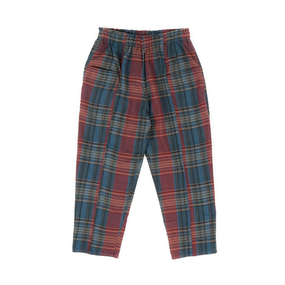Army String Pant - Navy /Red Plaid Twill