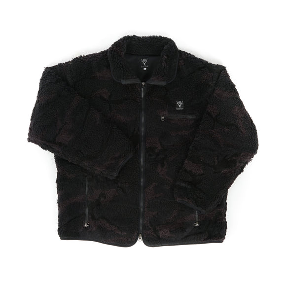 Piping Jacket - Black Boa Jacquard