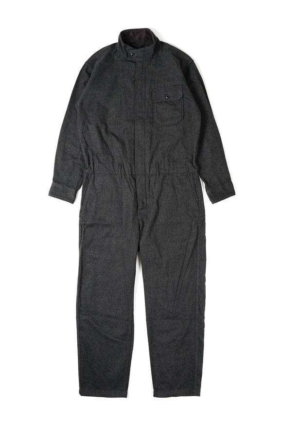 Boiler Suit - Grey Wool Cotton Flannel