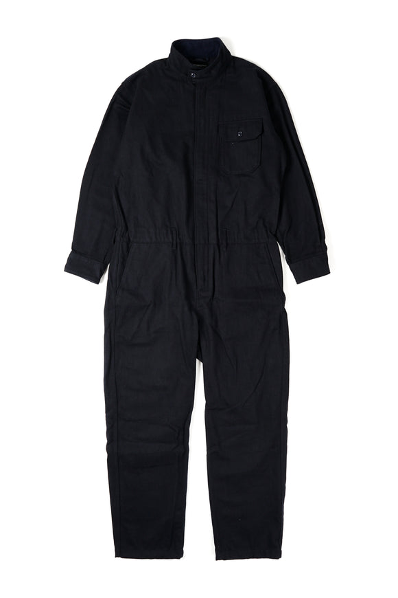 Boiler Suit - Dark Navy Wool Cotton Flannel