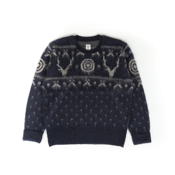 Loose Fit Sweater - Navy S2W8 Nordic