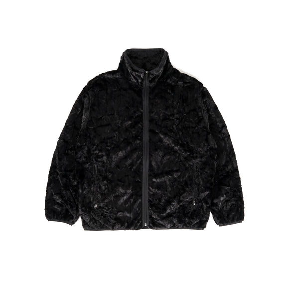 W.U. Piping Jacket - Black Faux Boa