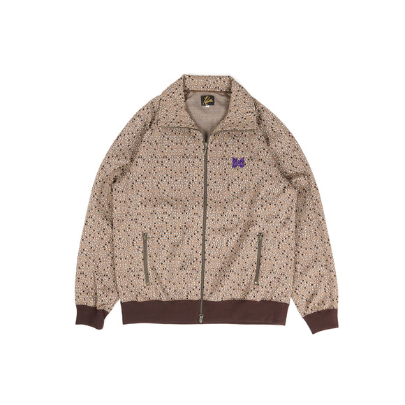 Needles Track Jacket - Salt & Pepper Poly Jacquard