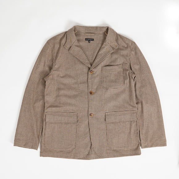 Loiter Jacket - Brown Wool Poly Gunclub check