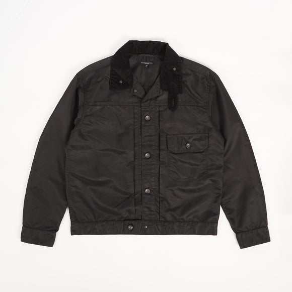 Trucker Jacket - Black Flight Satin Nylon
