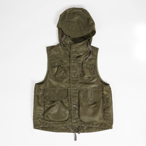 Field Vest - Olive Drab Polyester Pilot Twill
