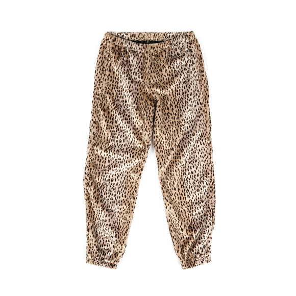 Zipped W.U. Pant - Leopard Faux Fur