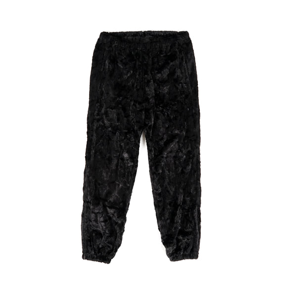 Zipped W.U. Pant - Black Faux Boa