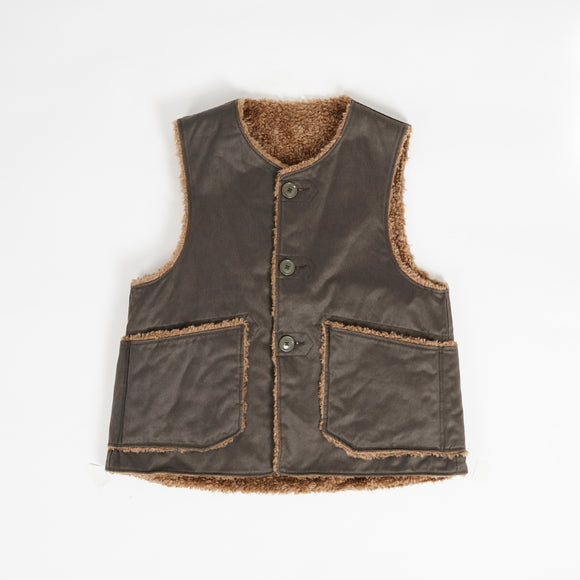 Over Vest - Dark Olive Coated Twill