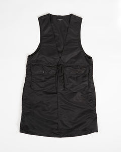 Long Fowl Vest - Black Flight Sateen Nylon
