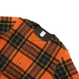 P.P. Cardigan - Orange Boa Tartan Plaid