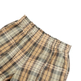 Army String Pant - Khaki/Black Plaid Twill