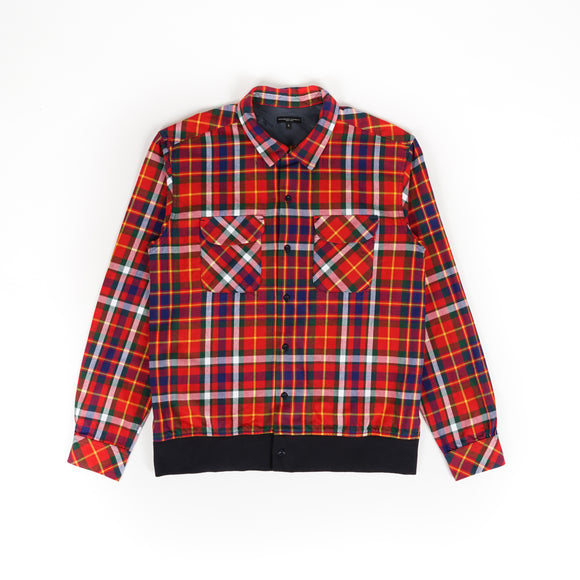 Classic Shirt - Red Green Yellow Cotton Twill Plaid