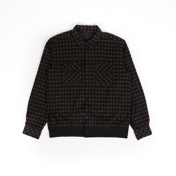 Classic Shirt - Black Brown Vintage Check Flannel