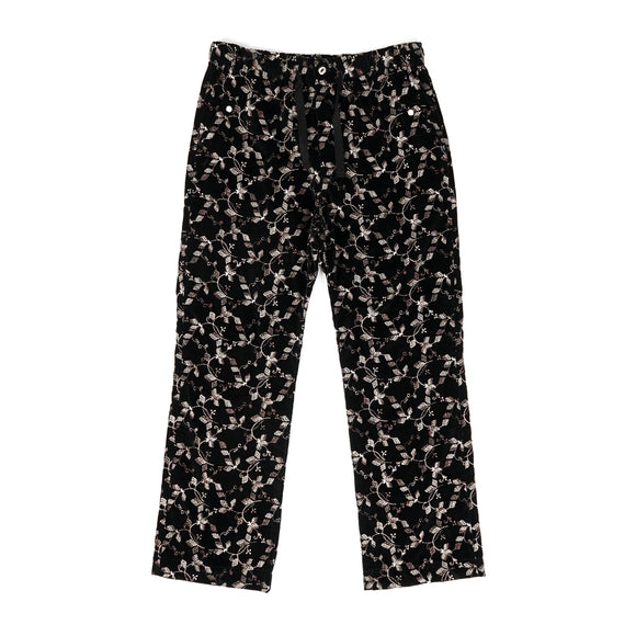 Cowboy Easy Pant - Black Embroidery Velvet