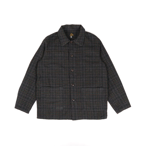 D.N. Coverall - Charcoal Plaid Tweed