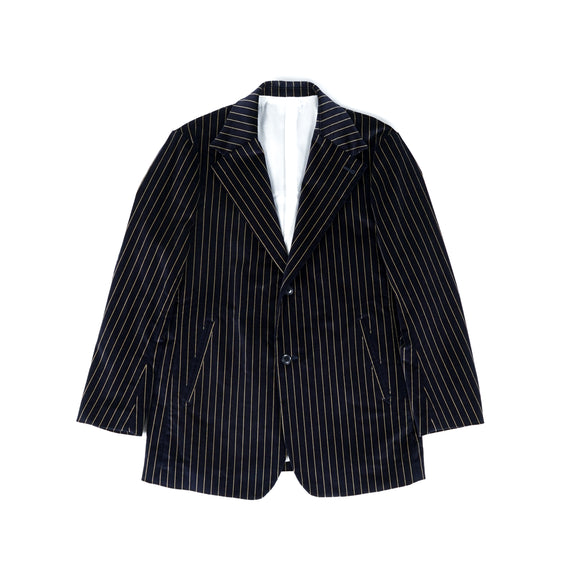 2B Jacket - Navy Stripe Velveteen