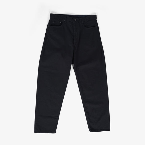 Wide Peg Jean - Black cotton Heavy Twill