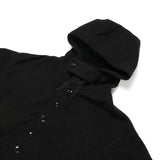 Madison Parka - Black Polyester Fake Melton