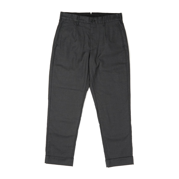 Andover Pant - Charcoal Worsted Wool Gabardine