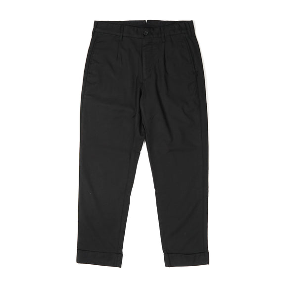 Andover Pant - Black Worsted Wool Gabardine