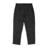 Andover Pant - Charcoal Rayon Wool Flocking Splatter Print