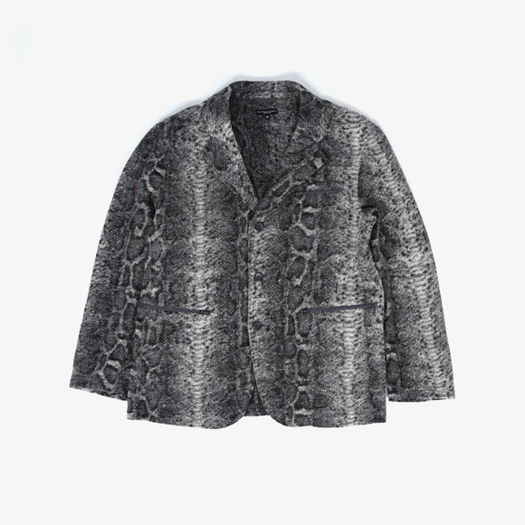 Leisure Jacket - Grey Poly Wool Snake Print Knit