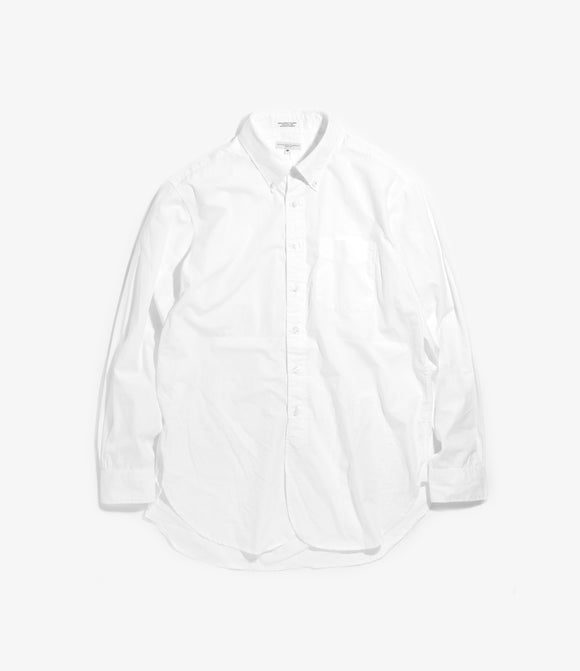 19 Century BD Shirt- White Cotton Oxford