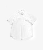 Popover BD Shirt- White Cotton Oxford