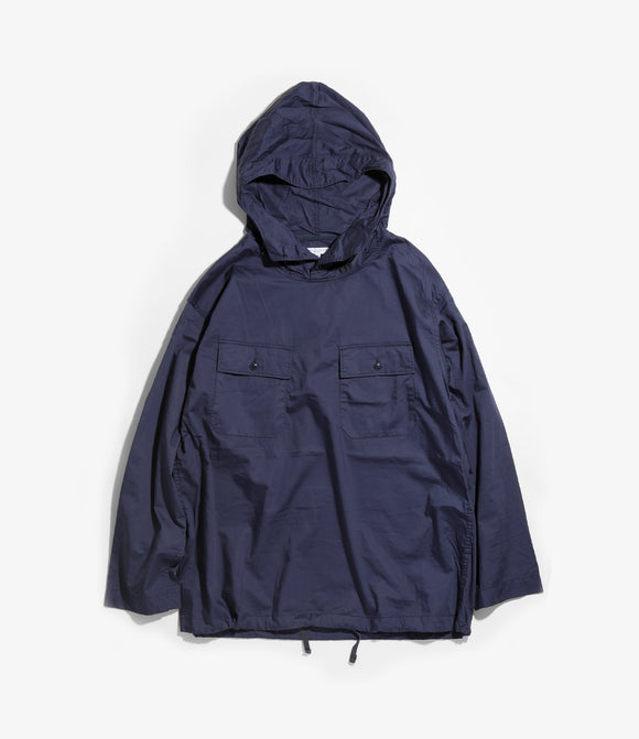 Cagoule Shirt - Navy Cotton Nano Twill