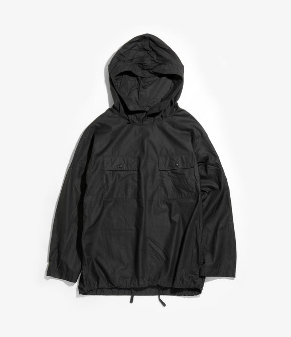 Cagoule Shirt - Black Cotton Nano Twill