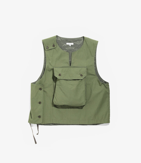 Cover Vest - Olive Cotton Ripstop