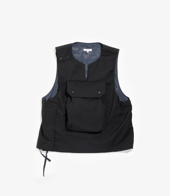 Cover Vest - Dark Navy Tropical Wool