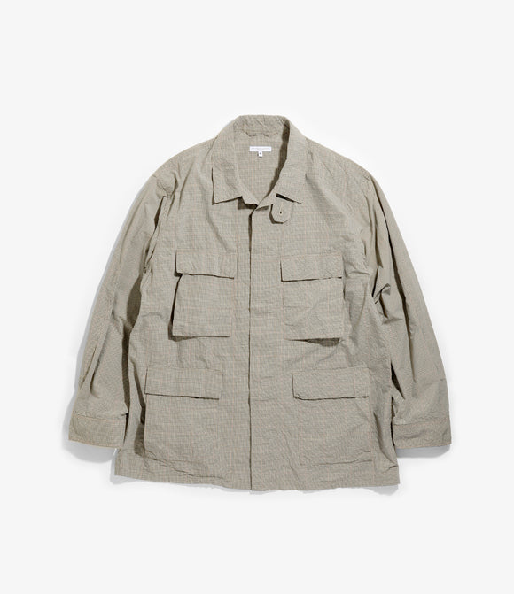 BDU Jacket - Khaki Nyco Mini Tattersall