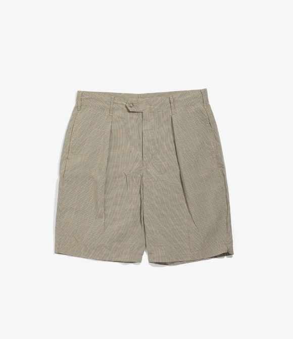 Sunset Short - Khaki NyCo Mini Tattersall