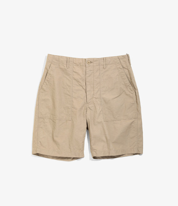 Fatigue Short - Khaki Cotton Ripstop