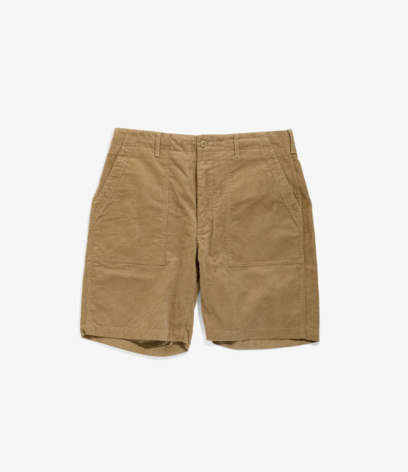 Fatigue Short - Khaki 14W Corduroy