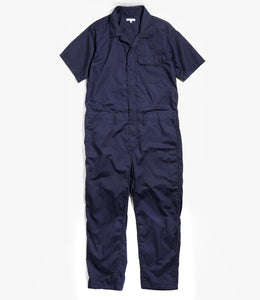Combi Suit - Navy Cotton Nano Twill