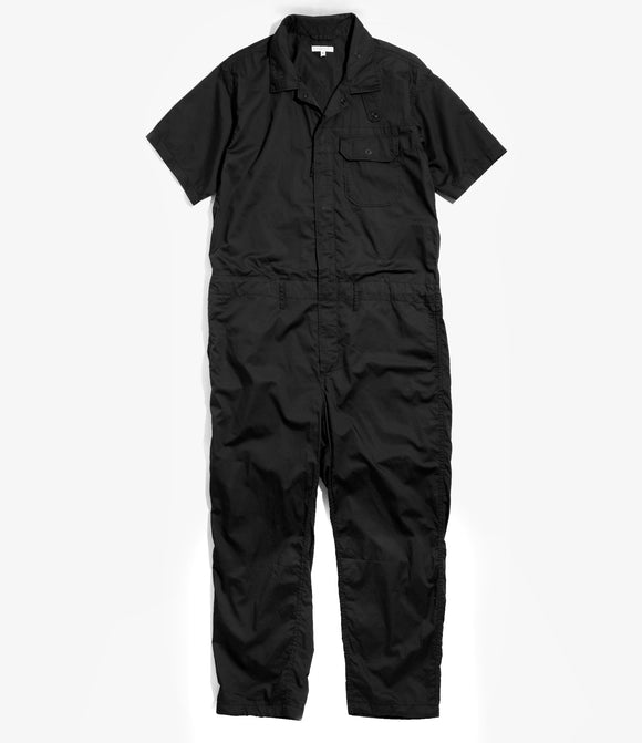 Combi Suit - Black Cotton Nano Twill