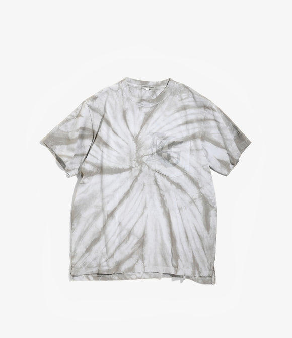Cross Crew Neck Tee - Grey Logo / Tie Dye