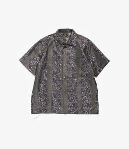 Cut Off S/S One Up Shirt - Pe/Cu Jacquard/Bright Stripe
